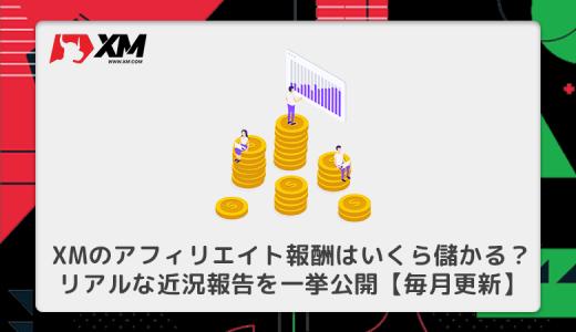 XMのアフィリエイト報酬はいくら儲かる?リアルな近況報告を一挙公開【毎月更新】